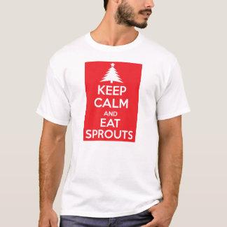 Håll lugn och äta groddar t shirts