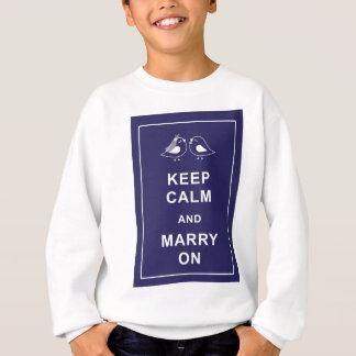 Håll lugn och att gifta sig bär på på fåglar tee