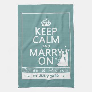 Håll lugn och att gifta sig på - bruden och kökshandduk