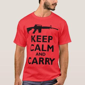 Håll lugn och bär - den 2nd rättelsen - AR15 Tee Shirt