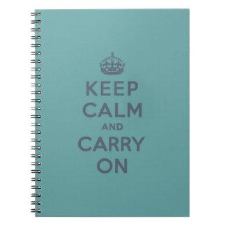 Håll lugn och bär kritiserar på på manlig kricka anteckningsbok