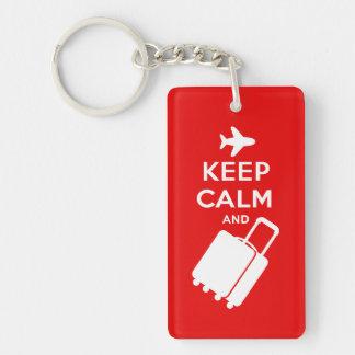 Håll lugn och bär på bagage nyckelring