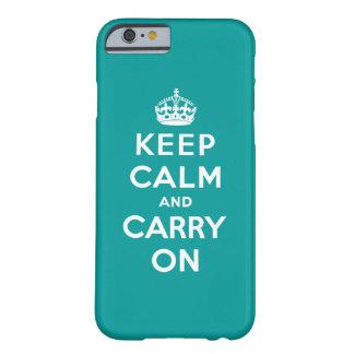 Håll lugn och bär på barely there iPhone 6 skal