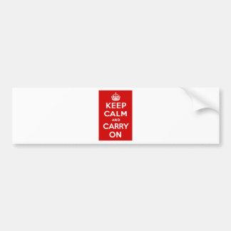 Håll lugn och bär på bildekal