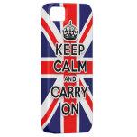 håll lugn och bär på facklig jackflagga iPhone 5 Case-Mate cases