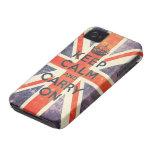 håll lugn och bär på facklig jackflagga för vintag iPhone 4 hud