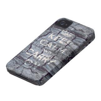 håll lugn och bär på iPhone 4 skal