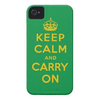 håll lugn och bär på iPhone 4 Case-Mate cases