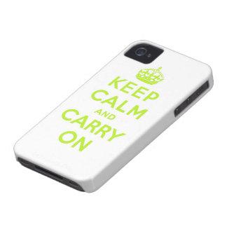 håll lugn och bär på iPhone 4 skydd