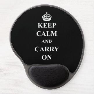 Håll lugn och bär på gelen Mousepad Gelé Musmatta