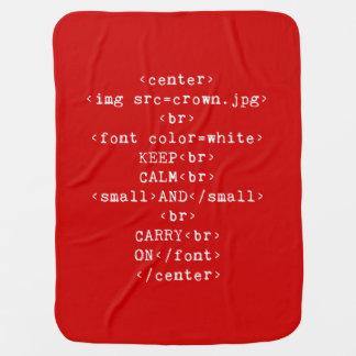 Håll lugn och bär på html (i någon färg) bebisfilt