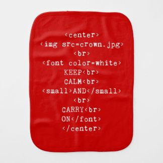 Håll lugn och bär på html (i någon färg) bebistrasa
