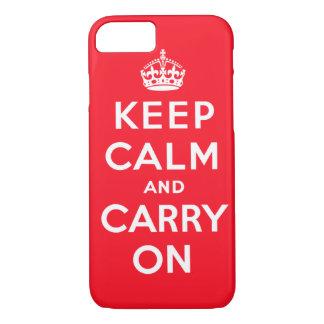Håll lugn och bär på iphone case