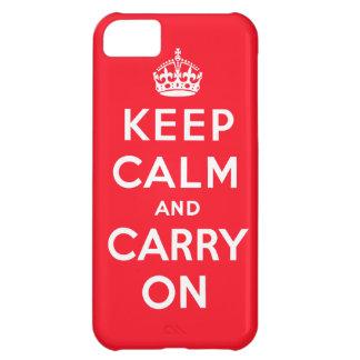 Håll lugn och bär på iphone case iPhone 5C fodral