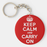 Håll lugn och bär på Keychain Nyckel Ring