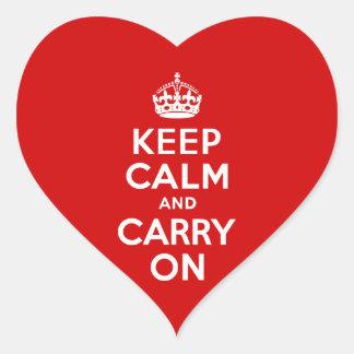 Håll lugn och bär på klistermärke