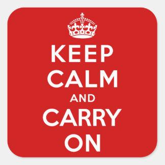 Håll lugn och bär på klistermärken