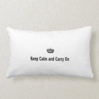 Håll lugn och bär på lumbarkudde