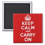 Håll lugn och bär på magneten kylskåpmagneter
