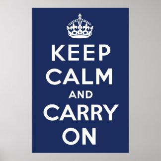 Håll lugn och bär på (marinen) poster