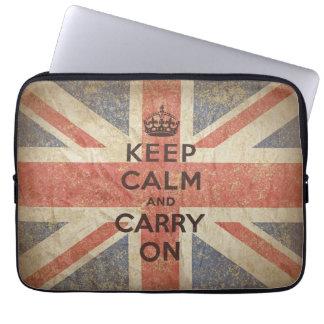 Håll lugn och bär på med UK-flagga Datorskydd