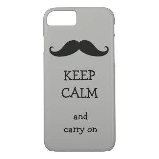 Håll lugn och bär på mustaschdesign
