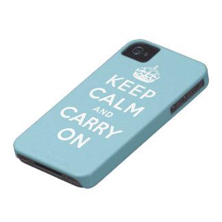 håll lugn och bär på original iPhone 4 Case-Mate case