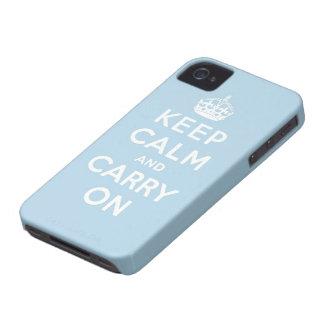 håll lugn och bär på original iPhone 4 Case-Mate cases