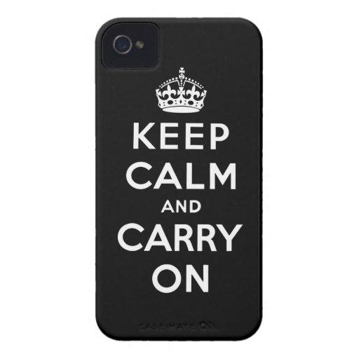 håll lugn och bär på original iPhone 4 fodraler