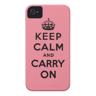 håll lugn och bär på original Case-Mate iPhone 4 skydd