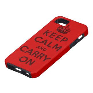 håll lugn och bär på original iPhone 5 hud