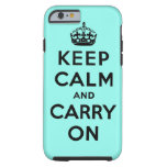 håll lugn och bär på original tough iPhone 6 case