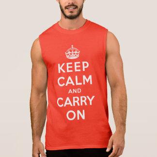 Håll lugn och bär på sleeveless tröjor