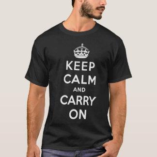 Håll lugn och bär på T-tröja - manar - mörk Tröja