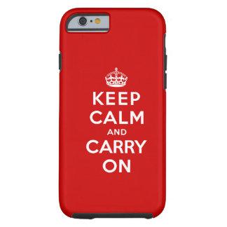 Håll lugn och bär på tough iPhone 6 case
