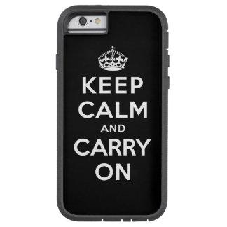 Håll lugn och bär på tough xtreme iPhone 6 fodral