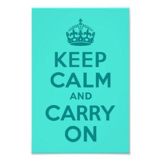 Håll lugn och bär på turkosfotoet