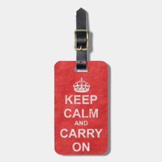 Håll lugn och bär på vintage 2 bagagebricka
