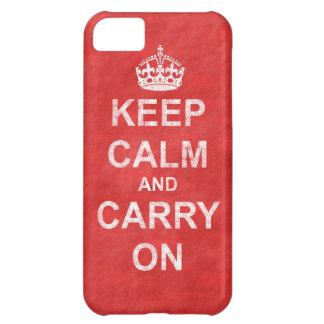 Håll lugn och bär på vintage iPhone 5C fodral