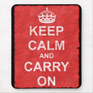 Håll lugn och bär på vintage mus mattor
