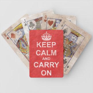Håll lugn och bär på vintage spelkort