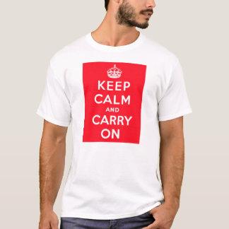 Håll lugn och bär på vitT-tröja Tee Shirts