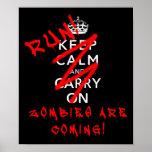 Håll lugn och bär på Zombies som den roliga affisc