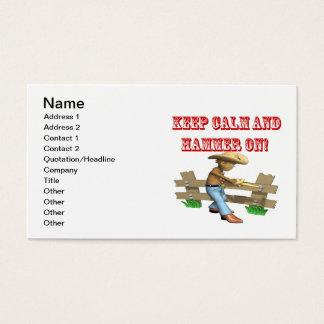 Håll lugn och bulta på visitkort