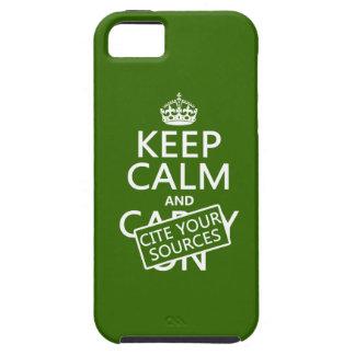 Håll lugn och citera dina källor (i någon färg) iPhone 5 cases