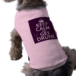 Håll lugn och få berusad (färger som kan ändras) husdjurströja