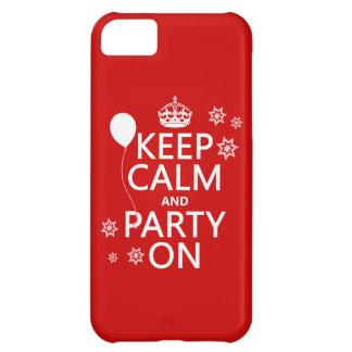 Håll lugn och festa på - allt färgar iPhone 5C fodral