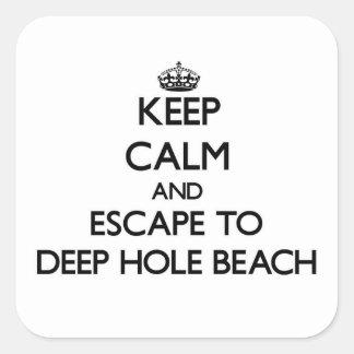Håll lugn och flykten djupt för att spela golfboll fyrkantigt klistermärke