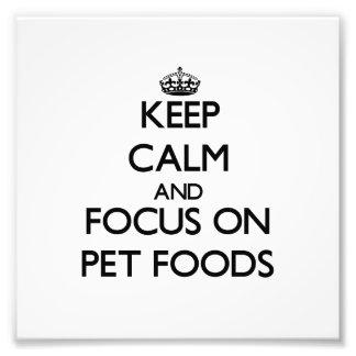 Håll lugn och fokusera på älsklings- matar