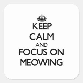 Håll lugn och fokusera på att jama fyrkantigt klistermärke